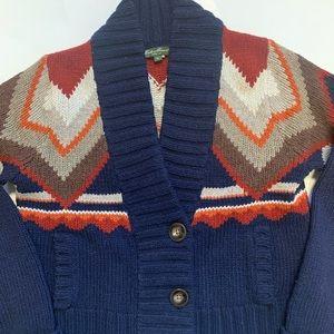 Eddie Bauer Western cardigan sweater size medium